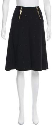 Mayle Embellished Knee-Length Skirt