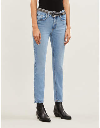 Nobody Denim True straight high-rise jeans