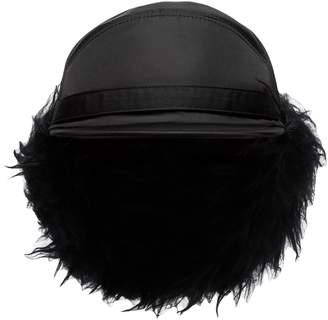 Prada faux fur-lined nylon trapper hat