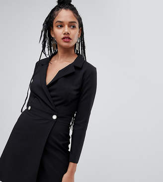 Miss Selfridge structured tuxedo dress in black