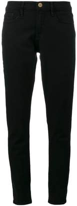 Frame Le Garcon Black mid rise skinny jeans