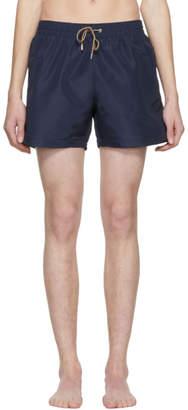 Paul Smith Navy Classic Solid Swim Shorts