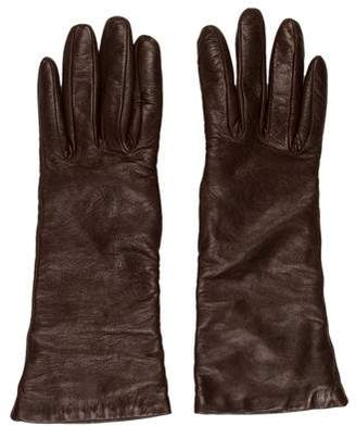 Saks Fifth Avenue Leather Long Gloves