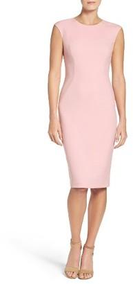 Women's Eliza J Cap Sleeve Crepe Sheath Dress $138 thestylecure.com