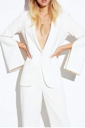 Amanda Uprichard Ivory Split-Sleeve Blazer