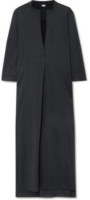 Eres Zephyr Odette Cotton-voile Dress - Charcoal