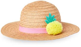 Addie & Tate (Toddler Girls) Natural Pineapple Floppy Hat