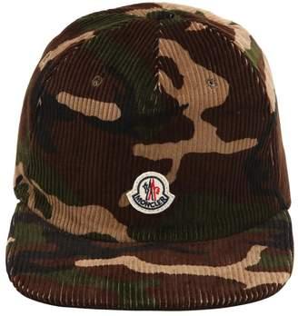 Moncler Logo Detail Camo Corduroy Hat