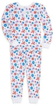 Baby Girl's Aeolian Islands Posei Two-Piece Cotton Pajama Set