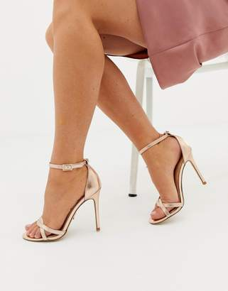 fb9ea6fbf5d at Asos · Lipsy twist strap barely there sandal