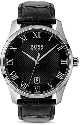 HUGO BOSS BOSS HUGO by Master Black Croc-Embossed Leather Watch, 41mm