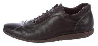 Canali Leather Low-Top Sneakers