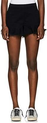 Blank NYC Blanknyc Women's Wedge Frayed Denim Shorts - Black Size 29