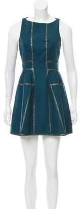 Kenzo Wool Mini Dress Green Wool Mini Dress