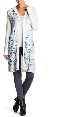 Couture Go Long Sleeve Hooded Print Cardigan