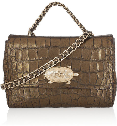 Mulberry Lily metallic shoulder bag