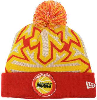 New Era Houston Rockets Glowflake Pom Knit Hat