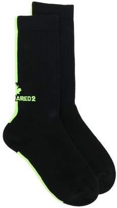 DSQUARED2 ribbed intarsia socks