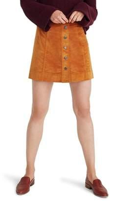 Madewell Velveteen A-Line Miniskirt