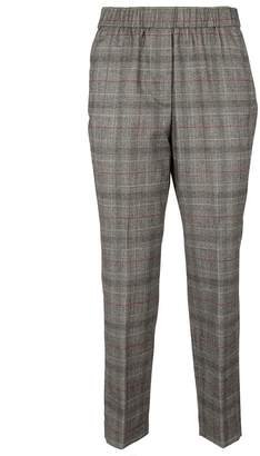 Peserico Cropped Checkered Trousers