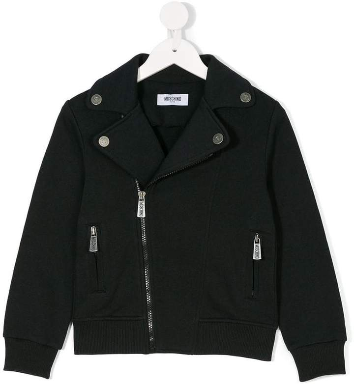 Moschino Kids zipped fitted jacket