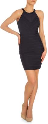 GUESS Mesh Halter Sheath Dress