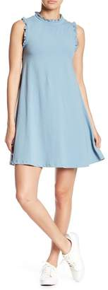 Angie Ruffle Trim Swing Dress
