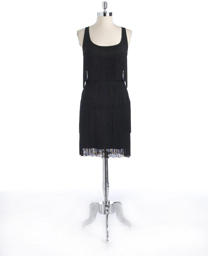 MUSE Belted Fringe Dress