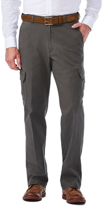Haggar Big & Tall Flat-Front Stretch Comfort Cargo Expandable Waist Pants