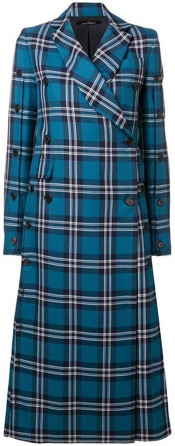 Rokh tartan print coat