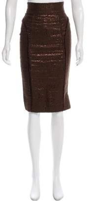J. Mendel Jacquard Knee-Length Skirt