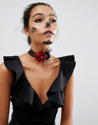 Asos Halloween Flower Choker Necklace