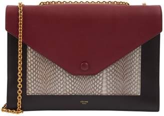 Celine Pocket Black Leather Handbag