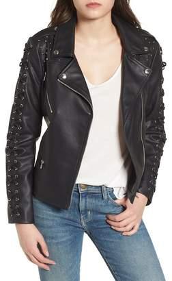 Members Only Faux Leather Biker Jacket