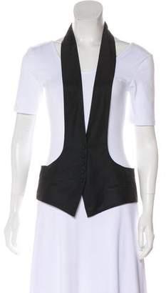 Robert Rodriguez Collarless Button-Up Vest