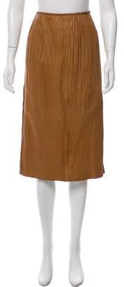 Edun Ruched Leather Skirt