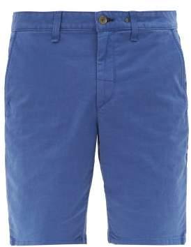 Rag & Bone Cotton Blend Chino Shorts - Mens - Blue