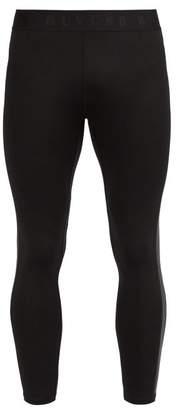 BLACKBARRETT by NEIL BARRETT Side Stripe Performance Leggings - Mens - Black