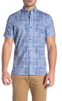 WALLIN & BROS Hawaiian Short Sleeve Performance Fit Shirt