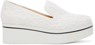 Stella McCartney White Lace Platform Binx Sneakers $600 thestylecure.com