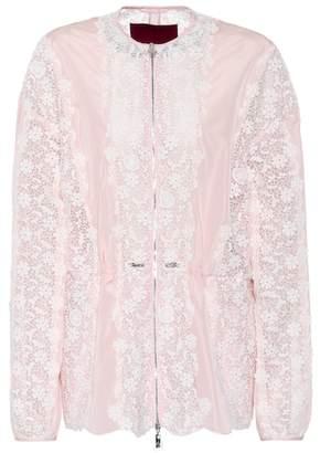Moncler Lace-panelled jacket