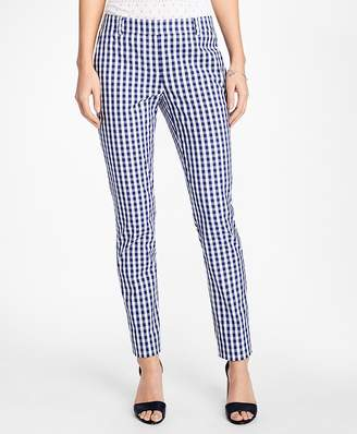 Gingham Stretch-Cotton Pants $88 thestylecure.com