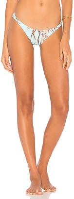 vitamin A Samba Ruched Back Bottom in Blue $89 thestylecure.com
