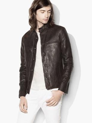Burnished Moto Leather Jacket $1,998 thestylecure.com