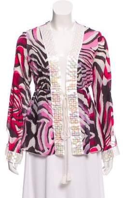 Just Cavalli Embellished Printed Jacket