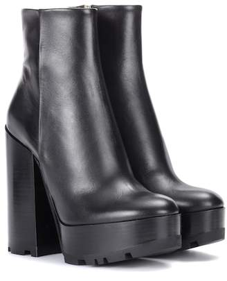 Jil Sander Leather plateau ankle boots