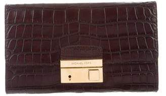 Michael Kors Embossed Gia Clutch