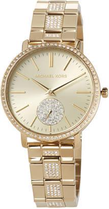 MICHAEL Michael Kors 38mm Jaryn Glitz Bracelet Watch, Golden