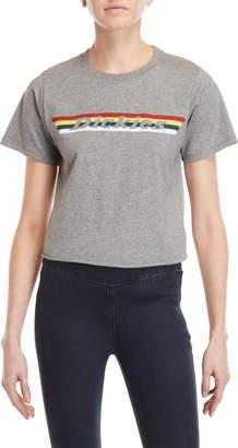 Dickies Grey Rainbow Logo Cropped Tee