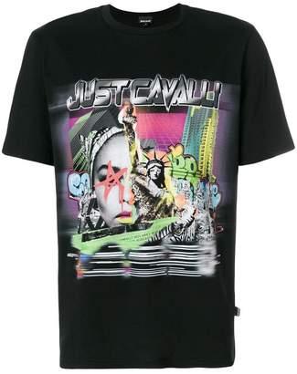 Just Cavalli abstract logo T-shirt
